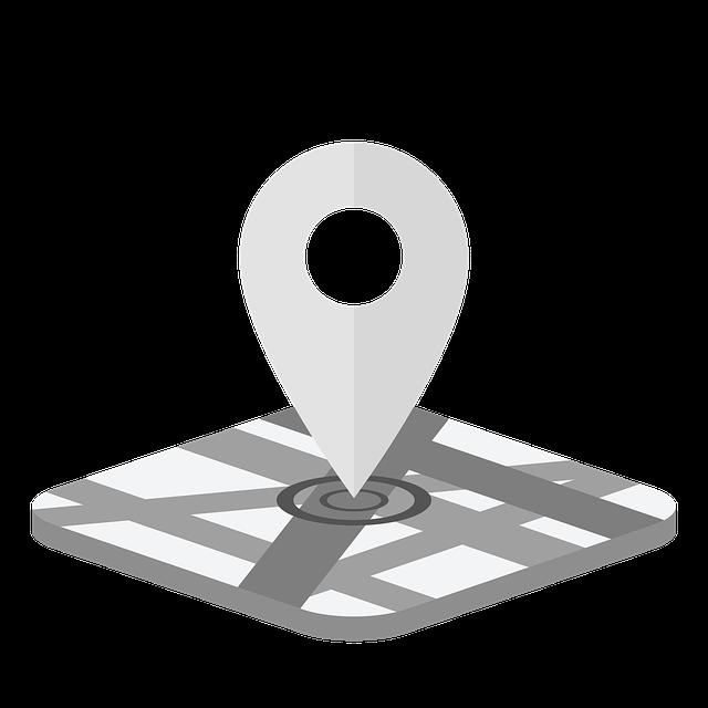 Označení místa, kde se lokátor nachází